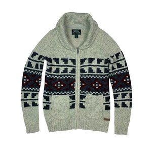 ROOTS Wool Knit Zip Up Sweater